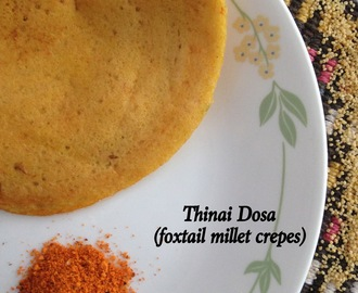 Foxtail Millet Dosa | How to make Thinai Dosa | Cooking with Millets