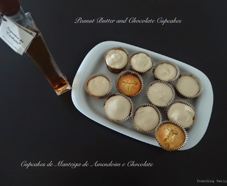 Peanut Butter and Chocolate Cupcakes // Cupcakes de Manteiga de Amendoim e Chocolate