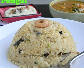 Godhuma Rava Pongal Recipe / Cracked Wheat Pongal