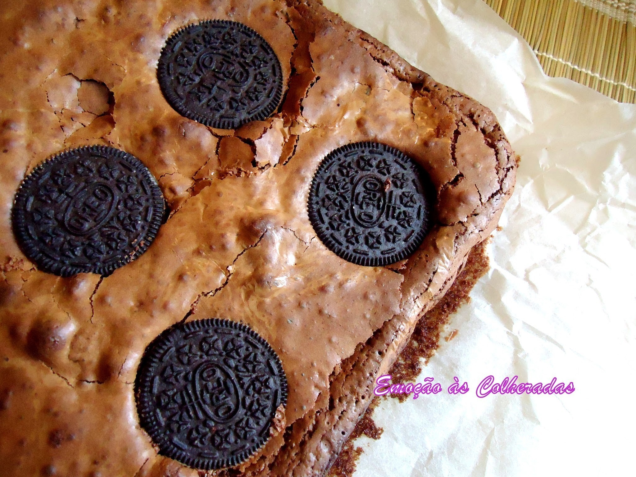 Brownies de Oreos (Cookies and cream fudge brownies)