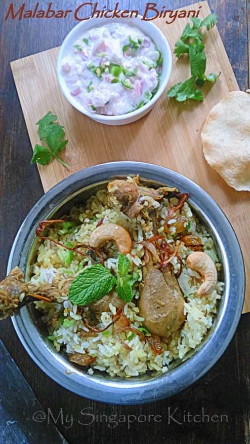Quick and Easy Malabar Chicken Dum Biryani