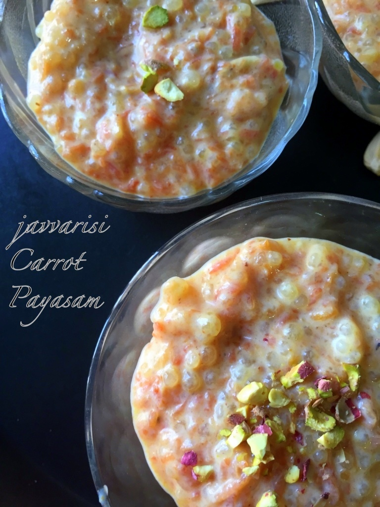 Javvarisi Carrot Payasam | Sago-Carrot Pudding | Quick Indian Sweets