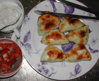Pierogies Crostini, With Two Toppings