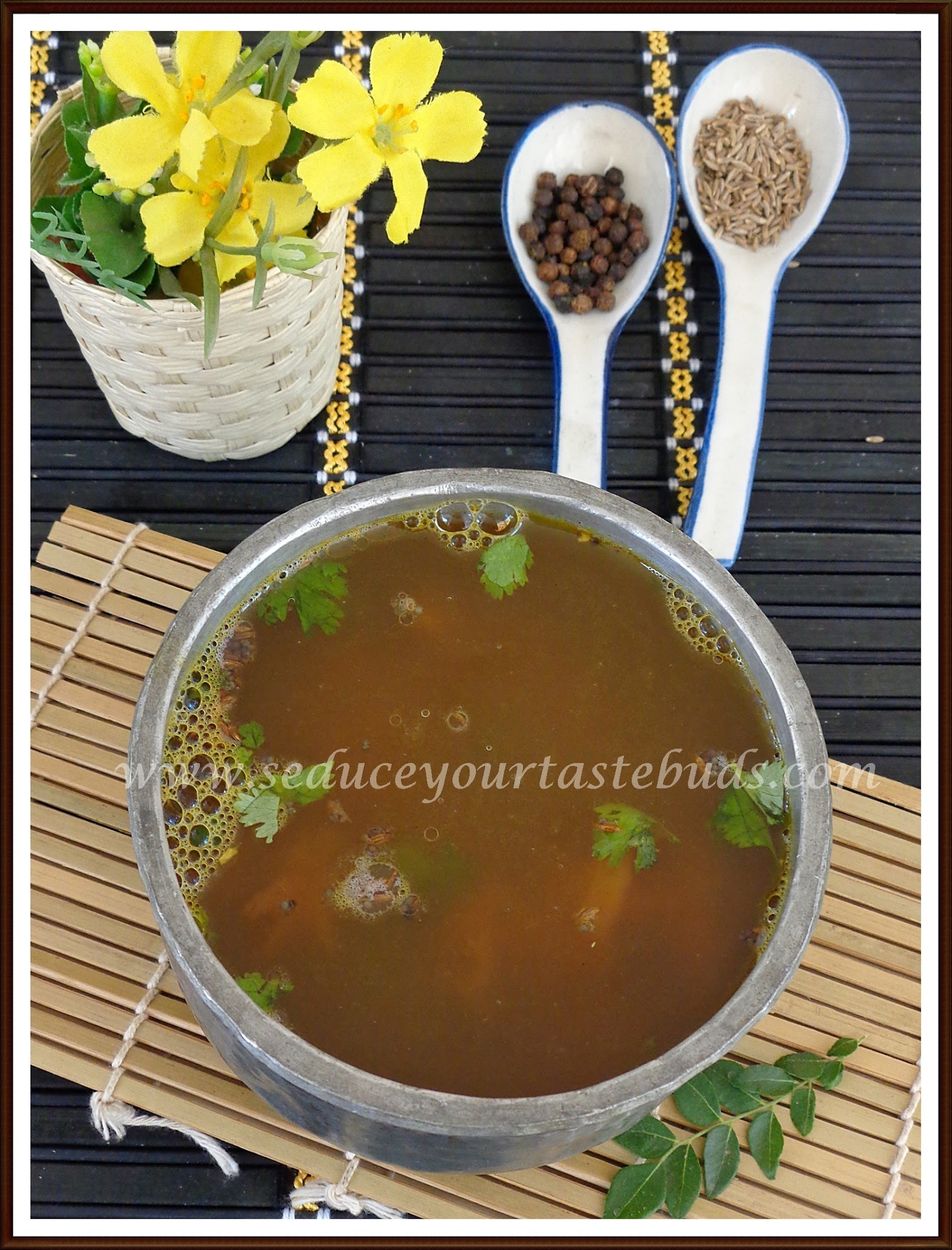 Jeerige Menasu Saaru | Cumin and Pepper Flavored Rasam