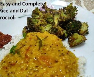 Easy Dinner With Rice, Simple Moong Dal and Brocoli stir fry