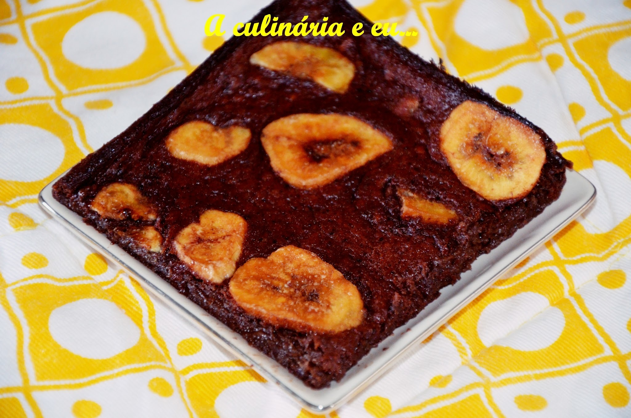 Brownie de 3 ingredientes [Sem gluten /Sem lactose]