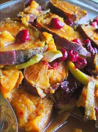 Maple Yams With Apples & Cranberries