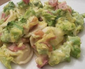 Pierogie Broccoli and Ham Bake