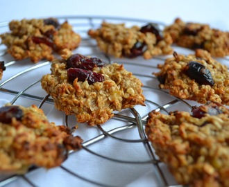 Cookies aux flocons d'avoine, banane et Cranberries
