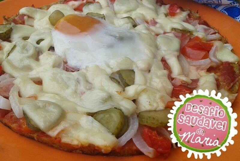 Pizza Fit com Base de Atum e Ovo