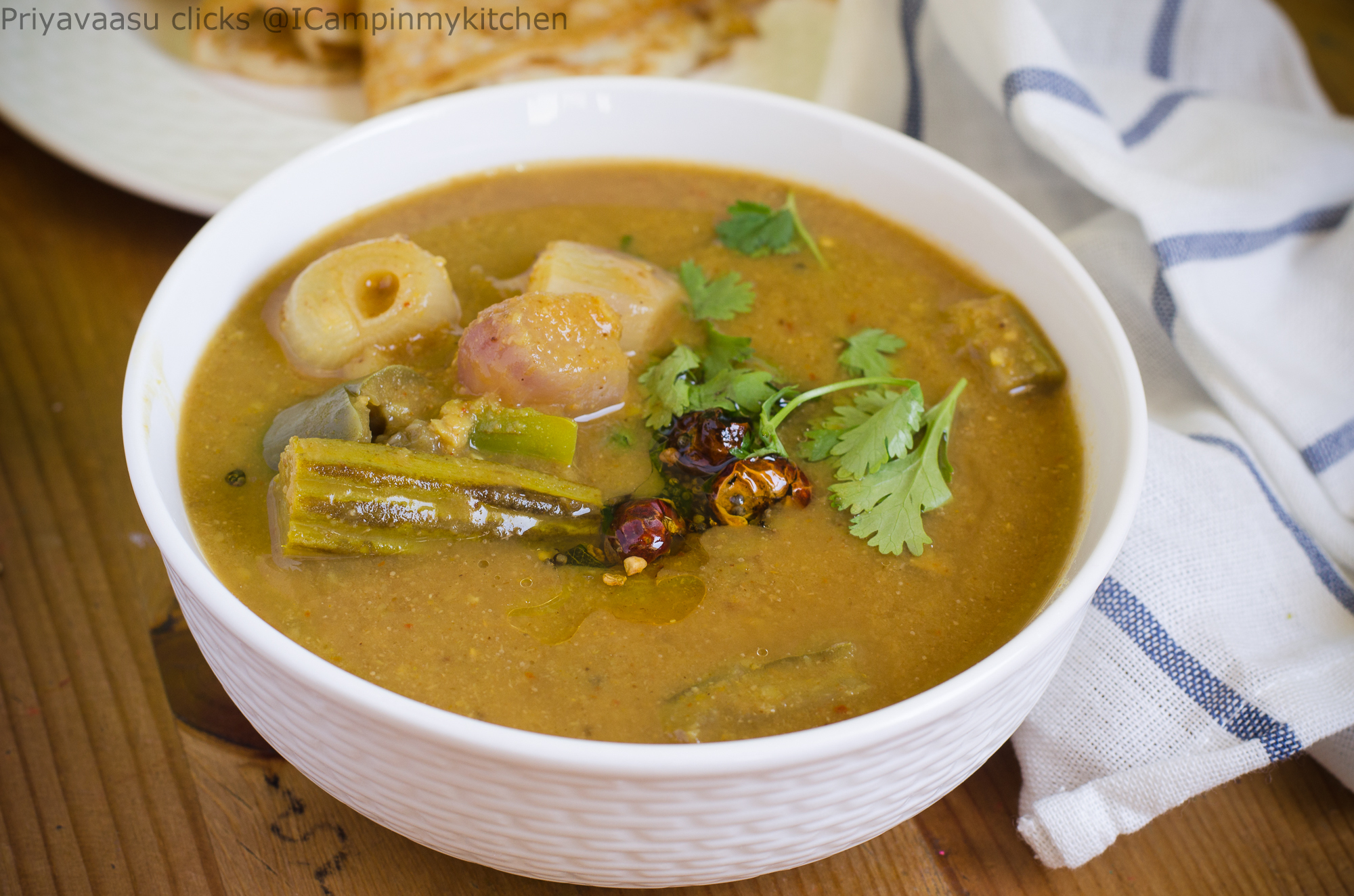 Mixed Vegetable Sambhar/Sambar - Udupi Hotel Style Sambhar/Sambar, Side dish for Idly/dosa