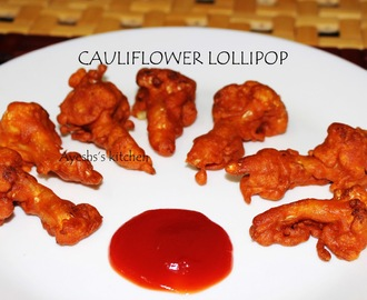 GOBI LOLLIPOP / CAULIFLOWER LOLLIPOP - VEGETABLE LOLLIPOP RECIPE