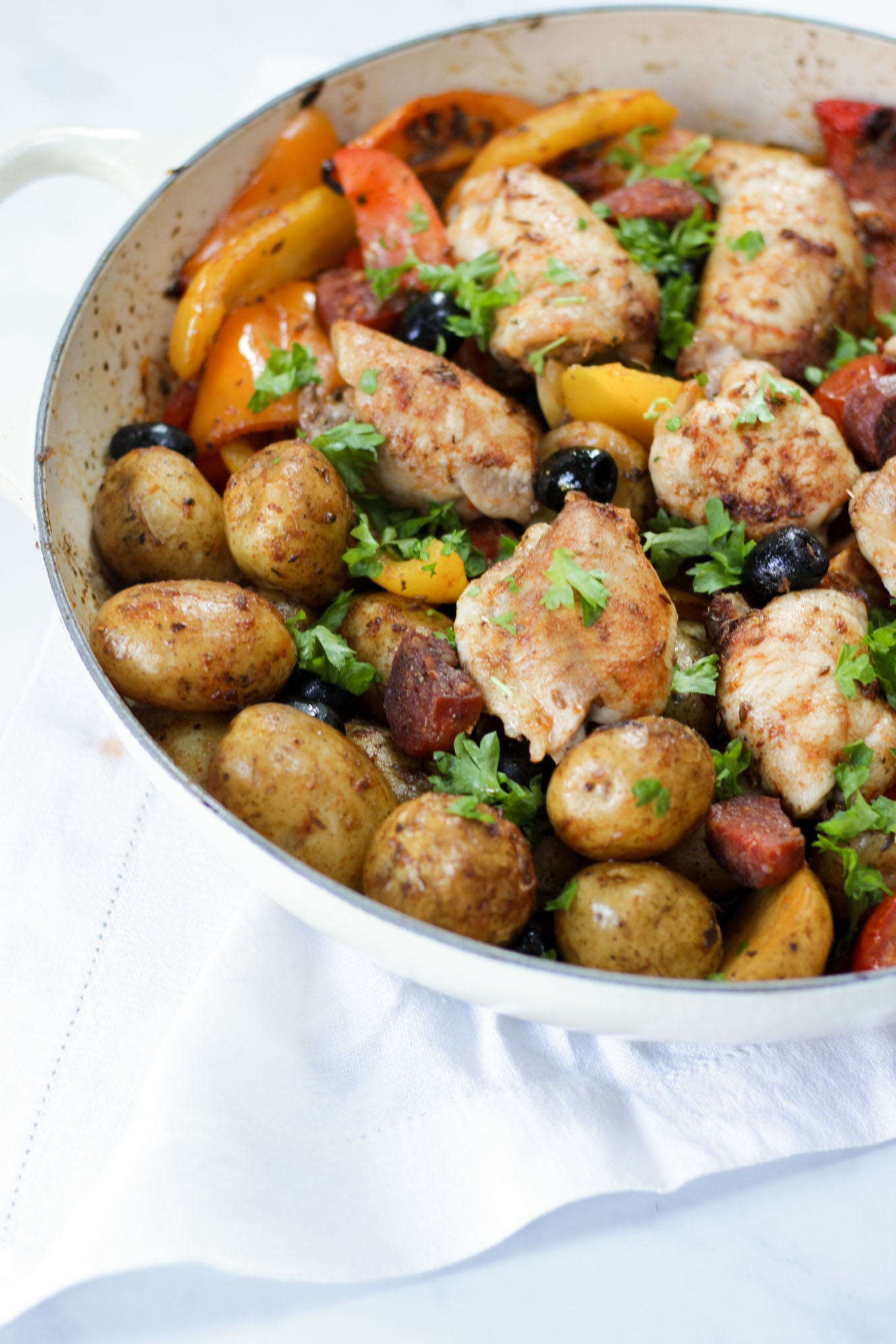 Spanish Chicken One Pot with Cornish New Potatoes