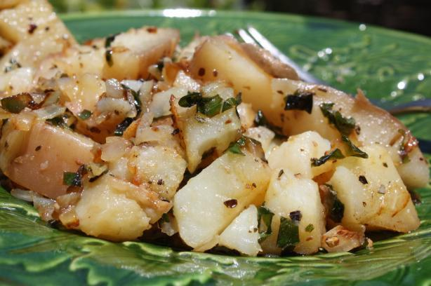 Simple Greek Home Fries in a Quickness