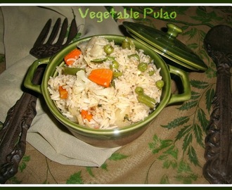 Vegetable Pulao /Veg.Pulao - Easy,Simple & Quick Veg. Pulao Recipe