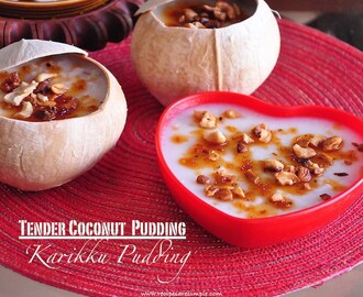 Karikku Pudding | Tender Coconut Pudding Recipe