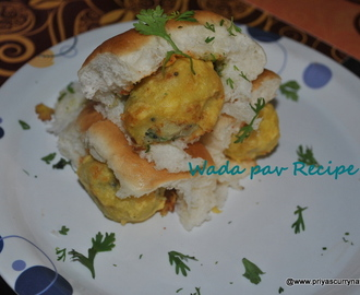 Vada pav recipe or Mumbai vada pav recipe,how to make Wada pav
