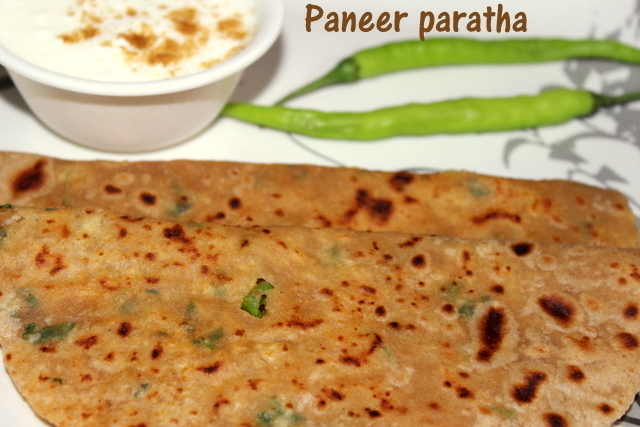 Paneer paratha recipe – how to make paneer paratha recipe – paratha recipes