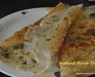 Restaurant Style onion Rava Dosa Recipe,how to make Instant Rava dosa