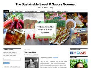 The Sustainable Sweet & Savory Gourmet