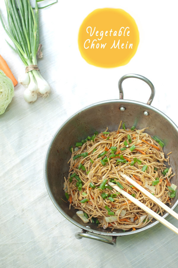 Vegetable Chow Mein – Indian Stir fried Noodles Recipe