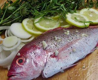 Red Snapper Grilled on Lemon, Herbs and Onions