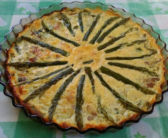 Quiche de espargos e bacon (sem base)