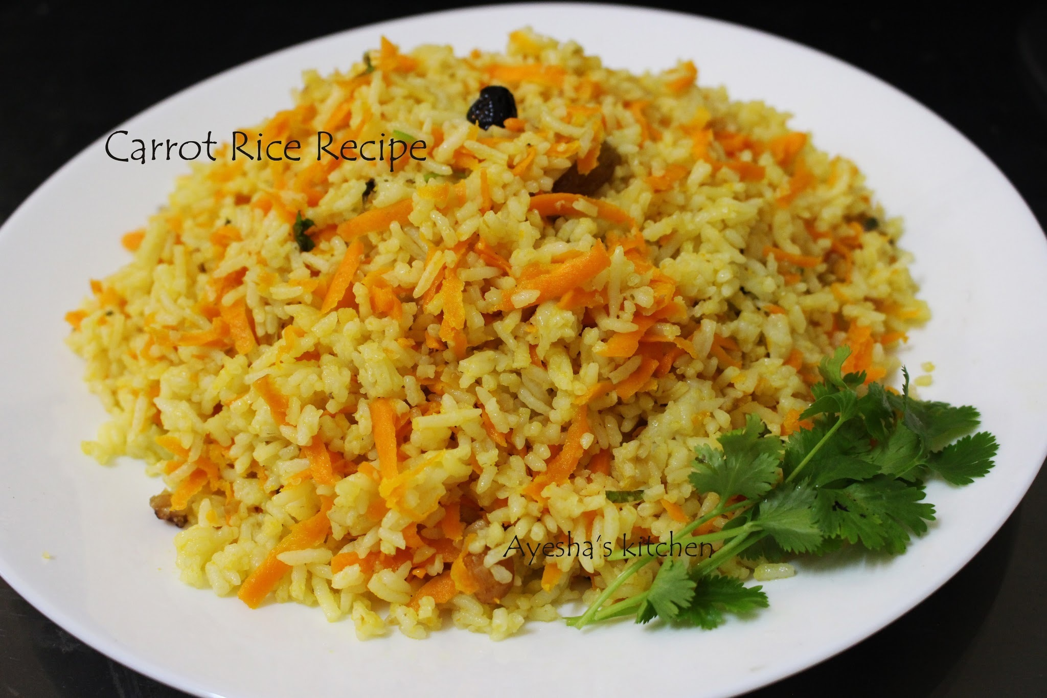 CARROT RICE / HOW TO MAKE CARROT RICE - QUICK LUNCH / DINNER IDEAS