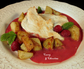 Pechuga de pollo con salsa de frambuesas - Chicken breast with raspberry sauce