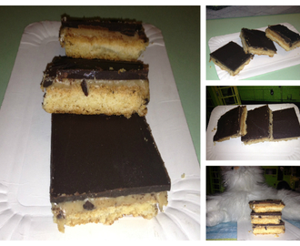 Galletas de chocolate y caramelo (barritas twix)