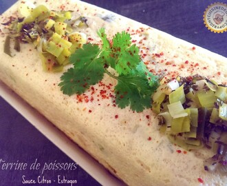 Terrine de poissons sauce citron/estragon