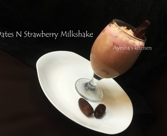 DATES AND STRAWBERRY MILKSHAKE - BEST WELCOME DRINK MILKSHAKE - SUGAR FREE