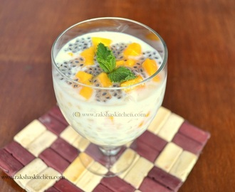 Sabudana Kheer With Mango And Chia Seeds - Dessert With A Twist