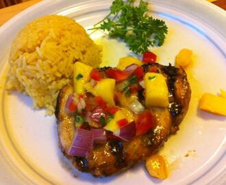 Grilled Marlin With Tropical Fruit Salsa
