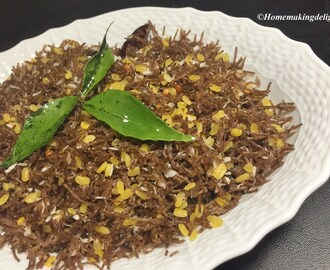 Moong dhal Ragi Semiya Recipe – Dhal flavored Finger Millet Vermicelli Recipe