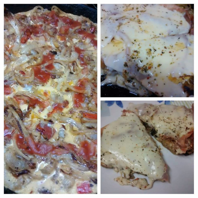 EXQUISITA PIZZA DE BERENJENAS