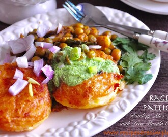 Bombay Ragda Pattice |  Potato Patties with Peas Chaat Recipe