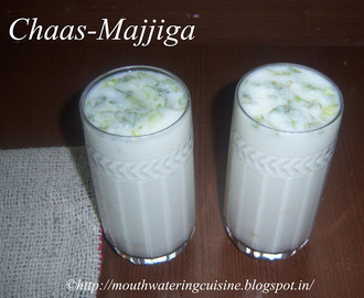 Chaas Recipe -- Majjiga Recipe -- Masala Buttermilk Recipe