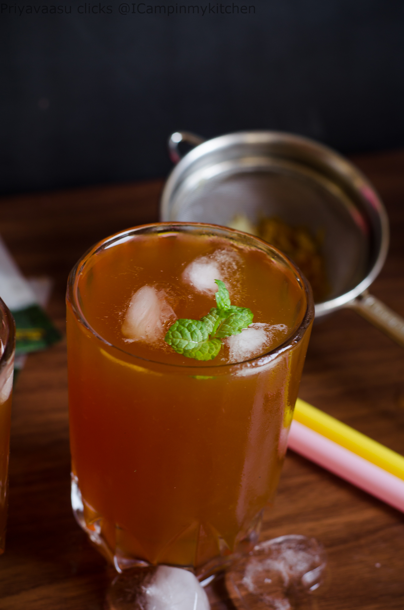 Ginger & Lemon Iced Tea - Summer Cooler Recipe