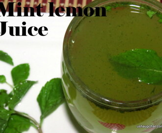 Mint lemon juice recipe