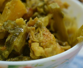 Poi Besara ( Fish Head and greens curry from Odisha )