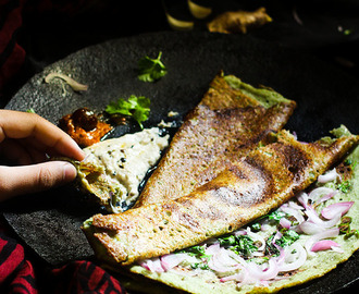 Pesarattu Dosa Recipe or Moong Dal Dosa, How to make Pesarattu