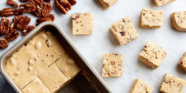 3-Ingredient Maple-Pecan Fudge