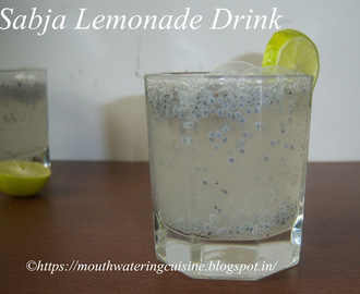 Sabja Lemonade Drink -- Sweet Basil Lemonade -- Summer Drinks