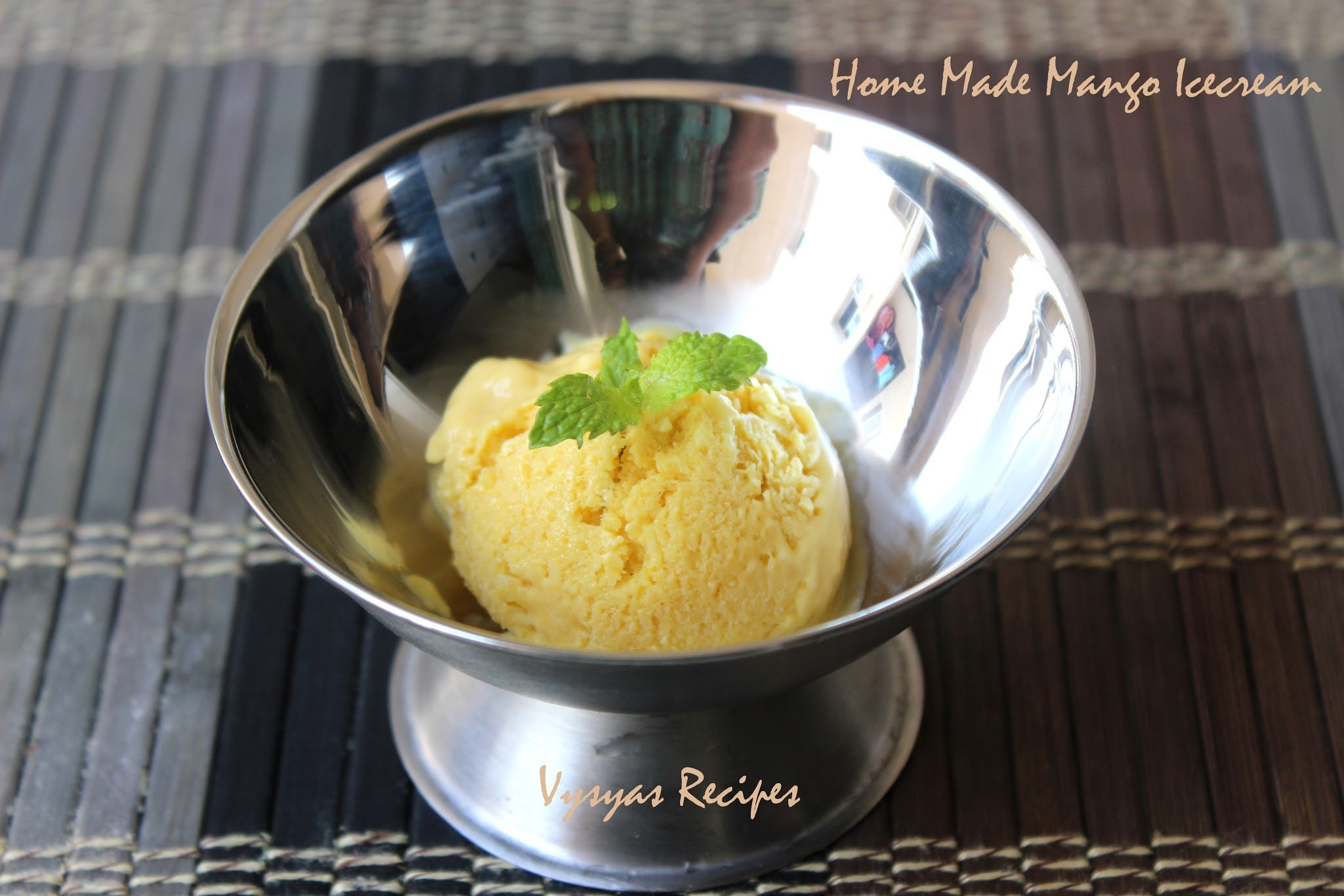 Home Made Mango Icecream - Easy Mango Icecream