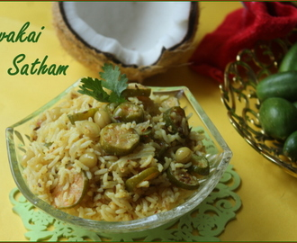 Ivy Gourd Rice / Kovakai Satham / Lunchbox Recipe