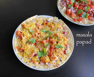 masala papad recipe | masala papadum recipe
