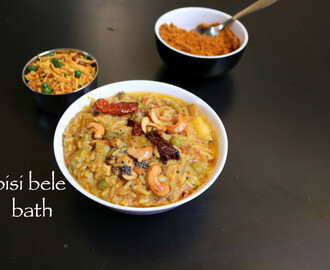 bisi bele bath recipe | huli anna recipe | sambar rice recipe