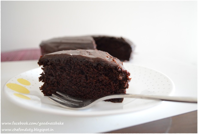 Chocolate Cake (Super moist, One bowl, Butter-less)
