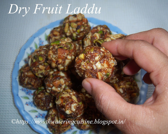 Dry Fruit Laddu Recipe -- How to make Dry Fruit Laddu Recipe